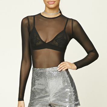 Metallic Sequin Shorts