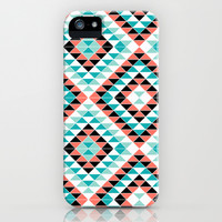 Tribal Triangles iPhone & iPod Case by Jacqueline Maldonado