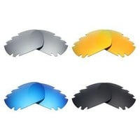 4 Pairs Mryok POLARIZED Replacement Lenses for Oakley Jawbone Vented Sunglasses Stealt