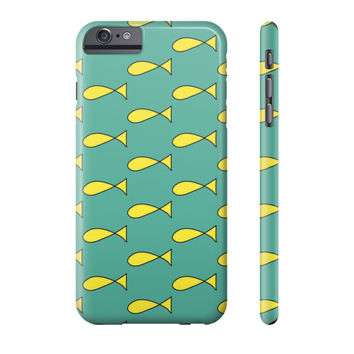 Princess Caroline Fish Dress Pattern iPhone Case