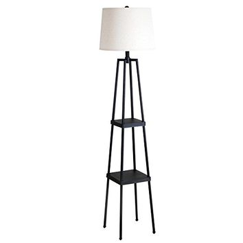 Catalina 19305-000 Etagere Floor Lamp, Painted Iron Distressed