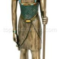 Horus Egyptian God Statue, Bronze Finish