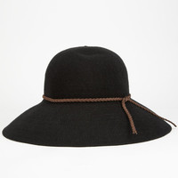 Woven Womens Floppy Hat Black One Size For Women 25475610001