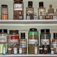 Vintage Medicine - Doctor's Office - Still Life - Herbs - 5x7 Photograph - Gifts Under 20 - Medical Supplies - Old Fashioned Cures