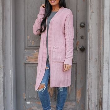 Cuddle Mode Cardigan - Blush