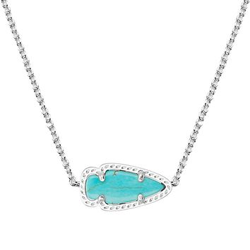 Skylie Silver Pendant Necklace in Turquoise - Kendra Scott Jewelry