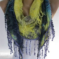 Elegant Purple Multicolor Scarf  -Fashion accessories-christmas gift for her-scarves