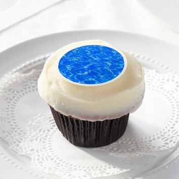 Fresh Blue Water Edible Frosting Rounds