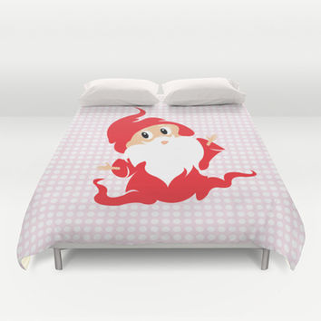 Funny Little Gnome Duvet Cover by Anca Avram