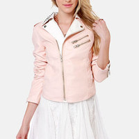 RD International Got It Bad Pink Vegan Leather Jacket