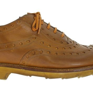 Dolce & Gabbana Yellow Leather Wingtip Shoes