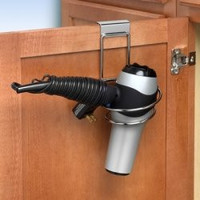 Spectrum MyBella Over the Cabinet Door Folding Dryer Holder, Chrome