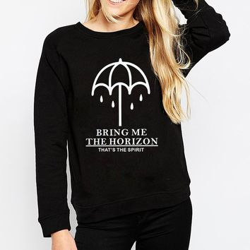 BRING ME THE HORIZON women kawaii hip hop femme harajuku fleece hoodie brand clothing 2017 fashion long sleeve sweatshirt slim