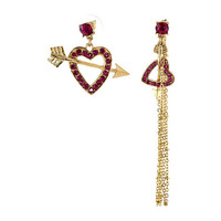Betsey Johnson Non-Matching Heart Arrow Earrings Crystal - Zappos.com Free Shipping BOTH Ways