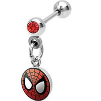 Spiderman Dangle Cartilage Earring | Body Candy Body Jewelry