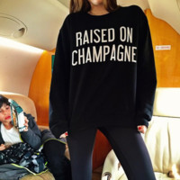 Fashion The New Printed Velvet Raised On Champagne Black Sweater Coat T Shirt