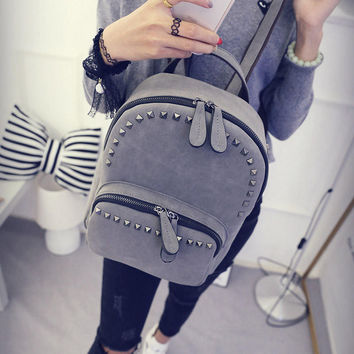 Cute Soft Leather Backpack