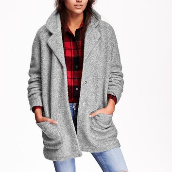 Old Navy Womens Textured Cocoon Coat