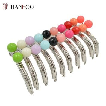 TIANHOO 5pcs/Lot 12.5cm Metal Purse Frame Handle for Clutch Handbag DIY Making Kiss Clasp Lock Bronze Candy Color Tone Bag Parts