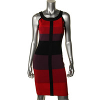 Jax Womens Colorblock Sleeveless Party Dress