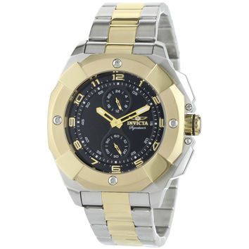 Invicta 7299 Men's Signature II Multifunction Black Dial Two Tone Steel Quartz Watch