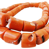 Natural Coral African Trade Beads