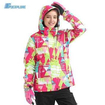 Goexplore Snowboard Jacket Women Waterproof thermal Warm ski wear Outdoor Sportswear Winter Hiking Snow Ski Jacket Girls
