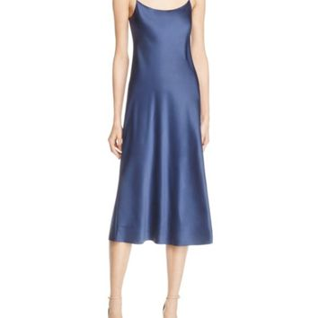 Theory Telson Satin Slip Dress | Bloomingdales's