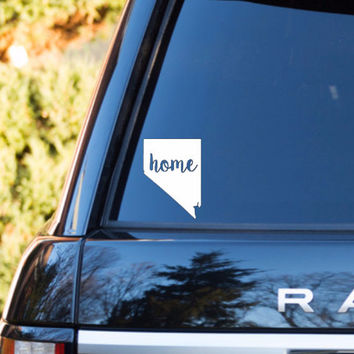 Nevada Home Decal | Nevada State Decal | Homestate Decals | Love Sticker | Love Decal  | Car Decal | Car Stickers | 120