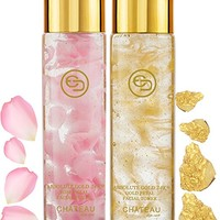 Absolute Gold 24K ROSE PETAL FACIAL TONER - GOLD PETAL FACIAL TONER ( pack 2). 24 KARAT...
