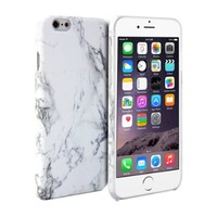 iPhone 6 Case, GMYLE Hard Case Print Crystal for iPhone 6 (4.7 inch Display) - White Marble Pattern Slim Fit Snap On Hard Shell Back Case