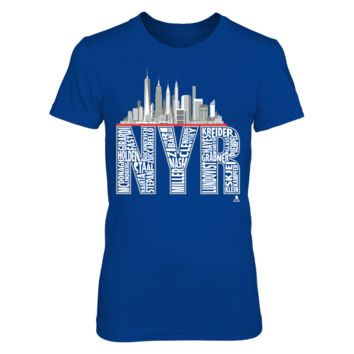 Henrik Lundqvist - NYR Skyline - T-Shirt - Officially Licensed Fashion Sports Apparel