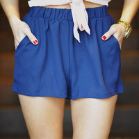 RESTOCK: Born This Way Shorts: Navy blue | Hope's