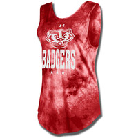 Under Armour Women's Bucky Badger Fusion Tank (Red)