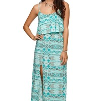 LA Hearts Ruffle Maxi Dress - Womens Dress -