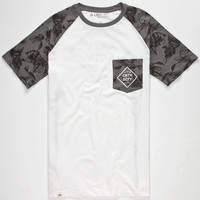 Lira Diamond Floral Mens Pocket Tee White  In Sizes