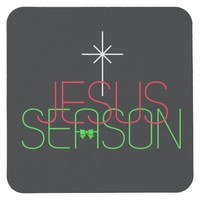 Jesus Season Square Paper Coaster