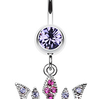 Regal Crown Belly Button Ring