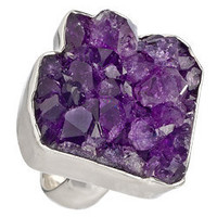 Charles Albert Purple Rocky Amethyst Geode Ring - Max and Chloe