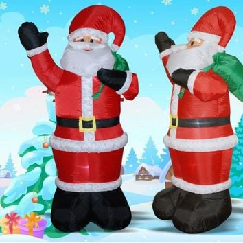 1.85m LED Lights Inflatable Santa Claus With Hang Bag Yard Christmas Decoration