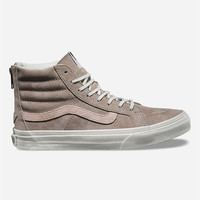 Vans Croc Emboss Sk8-Hi Slim Zip Womens Shoes Grey  In Sizes
