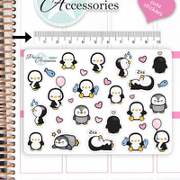 Kawaii Penguin Stickers Cute Penguin Stickers Penguin Stickers Planner Stickers Erin Condren Functional Stickers Decorative Stickers NR658