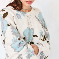 Kimchi Blue Floral Balloon-Sleeve Pullover Sweater - Urban Outfitters
