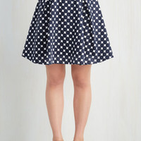 ModCloth 50s Mid-length High Waist Dot You on My Mind Skirt