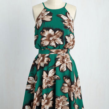 That's My Jam Dress in Basil | Mod Retro Vintage Dresses | ModCloth.com