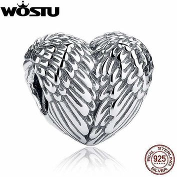 925 Sterling Silver Angelic Feathers Original Charm Fit Pandora Bracelet Pendant Authentic Jewelry Christmas Gift