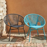 Round Maui Blue All Weather Wicker Camden Outdoor Chair