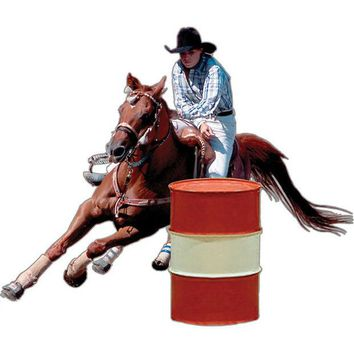 LMFCY8 Barrel Racer Rodeo Magnet