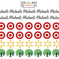 Store Planner Stickers: Target, Dollar Tree, Michael's, Walmart ! Perfect for Erin Condren, Kikki K, Filofax