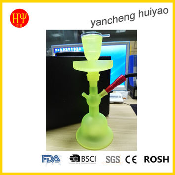 Green led glass hookah shisha with water proof led light and remote control for home hookah